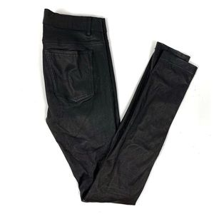 Vince Black Leather Skinny Pants
